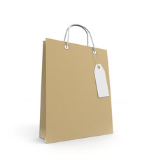 Paper Shopping bag with label