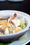 Seafood mix with beancurd