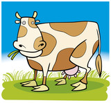 Farm animals: Cow poster