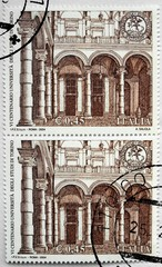university of Turin on a stamp