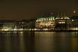 Ballindamm in Hamburg bei Nacht HDR