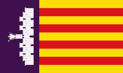 mallorca fahne majorca flag