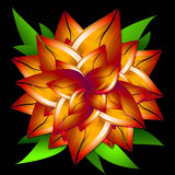 Virtual flower - a symbol of summer. poster