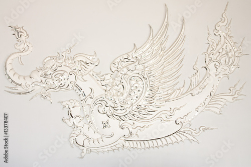 Fairy tale animal in Thai style molding art