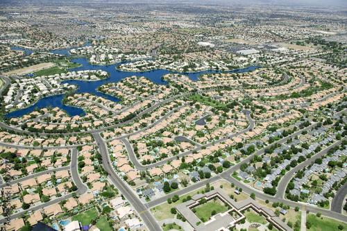 Fotobehang Luchtfoto Housing Development