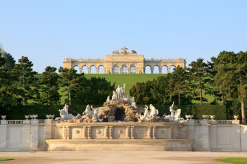 The Gloriette in the Schonbrunn Palace Garden