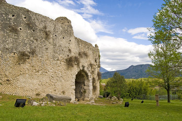 anfiteatro romano, cassino, italia