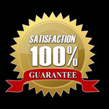 satisfaction guarantee button poster
