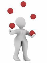 3D juggling