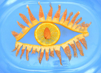 Eye from fruit