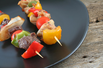 Beef and Chicken Shishkabobs