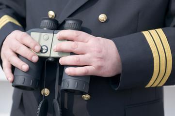 Hands with binocular