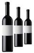 Drei Rotweinflaschen