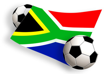 balls & south africa flag