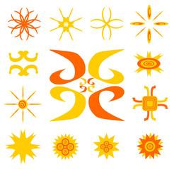 Sun Symbolic Icon Set