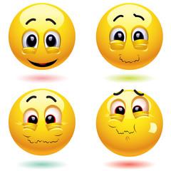 Sarcastic smiling balls