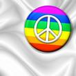 roleta: Bandiera Spilla Pace-Peace Badge Flag-Drapeau Paix
