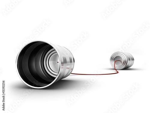 Leinwanddruck Bild Dosentelefon