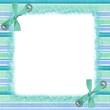 roleta: cadre rayé bleu et vert