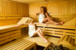 Two women in sauna
