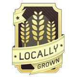 Locally grown food label poster