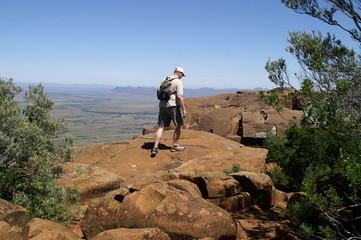 Wandersmann in der Karoo