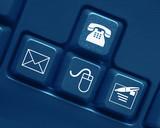 Contact keys on keyboard (blue)