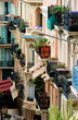 colorful balconys in monte carlo / monaco