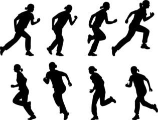 girl running - vector