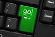 """go!"" key on keyboard"