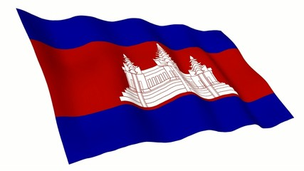 Cambodia Animated Flag
