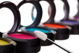 Eyeshadow Pots With Brush poster