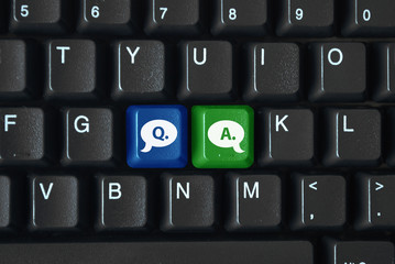 """Q&A"" keys on keyboard"