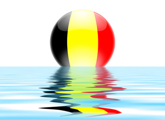 Belgium Flag and Reflection