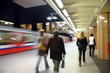 Fototapeta Commuter - Wyjazd - Kolej
