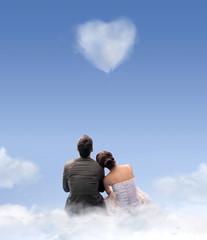 Creative style photo of a wedding couple