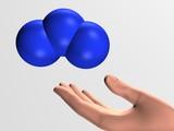 Ozone molecule poster