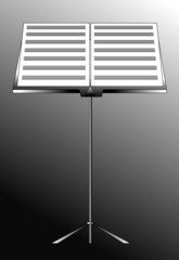 vector music stand