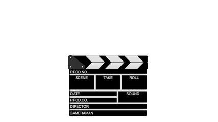 zufallende Filmklappe