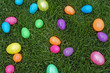 Brightly scattered eggs - 13425458