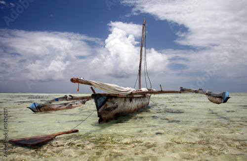 Dhow on shore