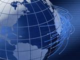 global telecommunications background design poster