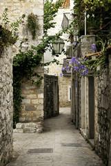fototapeta stare miasto Budva ulica, Czarnogóra