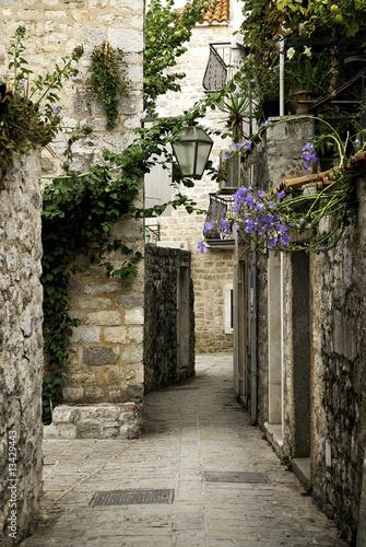 budva old town street, montenegro - 13429443