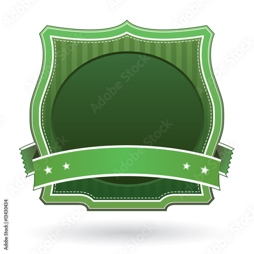 Green blank product label template for logos or marketing