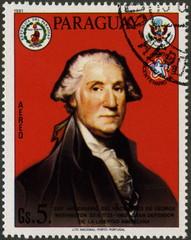 Paraguay. George Washington. Aero. Timbre postal.