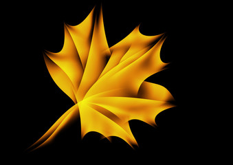 Maple leaf in fire