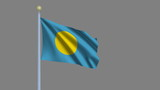 Flag of Palau with alpha matte for easy isolation poster