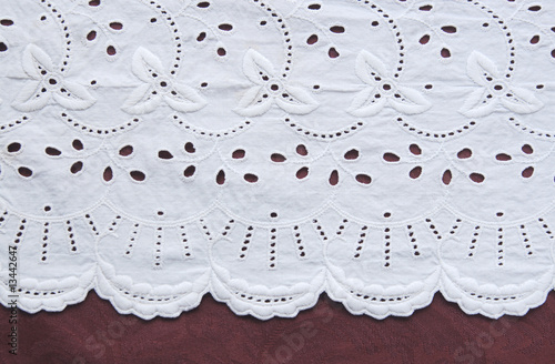 old decorative cutwork cloth