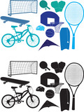 Sports object silhouettes